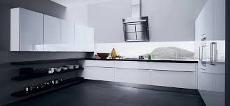 Urban Design Kitchens - black and white contemporary kitchen cabinets and wall in oven