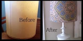 Lamp Shades Diy Great Diy Lamp Shade Diy Lampshade Recover Remade Shab Home