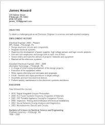 american resume exles standard resume exles electrical engineer resume exle