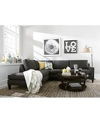 articles with gray sofa with chaise lounge tag interesting gray amazing living room features a a blue and grey abstract art piece