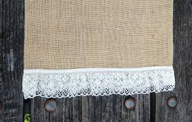 Burlap Lace Table Runner 120