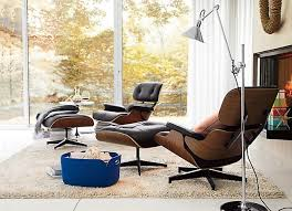 Eames Chair Living Room Eames Lounge Chair Modern Living Room Vancouver Rove With Regard