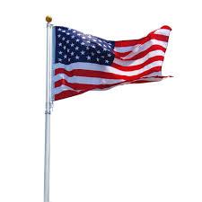Commercial Flag Pole 16 Ft Aluminum Telescoping Flag Pole Kit With Us Flag