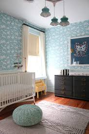 distressed white dresser nursery transitional with white crib