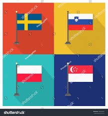 flag slovenia flag singapore flag sweden stock vector 280540646