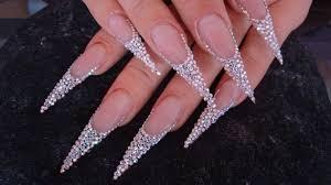 imagenes de uñas acrilicas con pedreria piedras lindas pinterest piedras pedreria y uñas nude