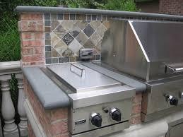 outdoor kitchen backsplash bbq outdoor kitchens nj built in grill fireplace design ideas