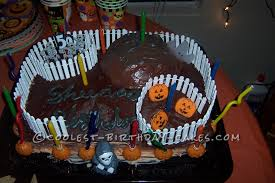 Cool Halloween Birthday Cakes by Scary Halloween Birthday Cake