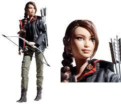 parting shot katniss barbie doll brings hunger games