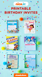 nick jr printable birthday party invitations nick jr birthday