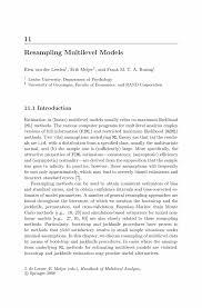 Mba Sample Resumes by Resampling Multilevel Models Springer