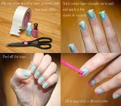 14 nail tutorials with tape tricks pretty designs