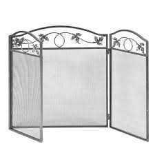 3 panel folding steel fireplace screen doors fireplace screens