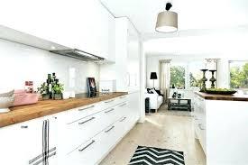 cuisine blanche et bois cuisine blanche en bois modele idee et on decoration d blanc laque