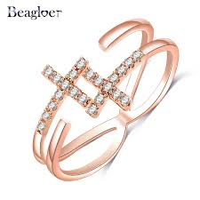 aliexpress buy beagloer new arrival ring gold aliexpress buy beagloer unique cross rings gold