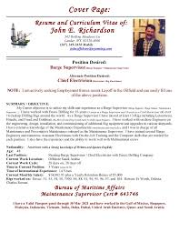 Position Desired Resume Resume Cv Of John E Richardson