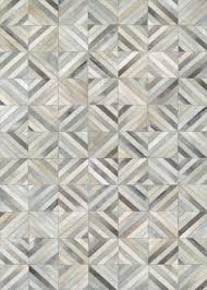 Couristan Runners Chalet Pixels Cowhide Leather Area Rugs
