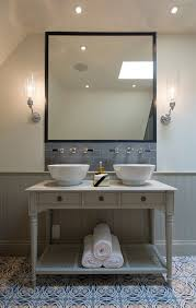 bathroom sink backsplash ideas bathroom sink ideas powder room contemporary with gold mirror
