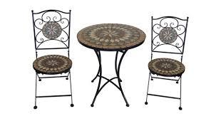 Garden Bistro Table Mosaic Bistro Table Set For Inspiring 3 Piece Metal Garden Bistro