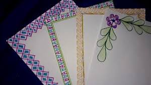 file cover design handmade project file pages decoration border designs for school project