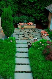 Tall Grass Landscaping by Irregular Bluestone Patio Patio Contemporary With Tall Grass