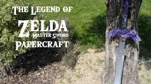 Master Sword Papercraft - crococraft gaming