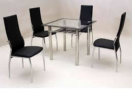 small kitchen table with 4 chairs tremendeous small square clear black glass dining table and 4 chairs