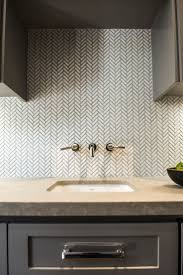 kitchen travertine backsplash with herringbone inlay youtube