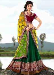 How To Drape A Gujarati Style Saree How To Wear Lehenga Dupatta In Sari Style Onehowto