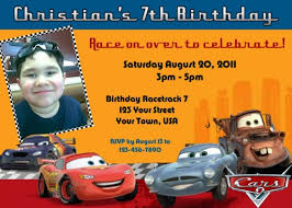 cars 2 mcqueen personalized invitation partiesrpersonal on artfire