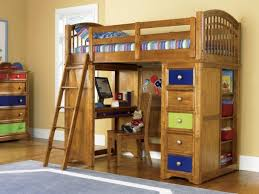 Wood Bunk Bed Plans Wooden Bunk Beds With Desk Ideas For Attractive Residence