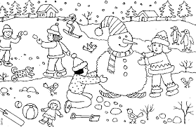 coloring snow coloring pages winter 12 snow coloring