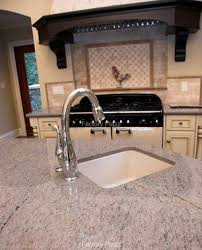 granite countertop vintage cast iron kitchen sink faucet hole