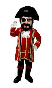 buy captain jack pirate mascot costume t0295 mask us from costume