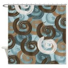Gray And Brown Shower Curtain - blue brown shower curtain foter