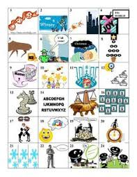 24 pictograms that students have to figure out the christmas carol