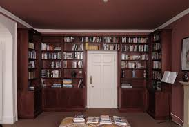 Dark Bookcase Libraries And Wall To Wall