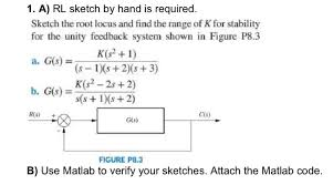 a rl sketch by hand is required sketch the root chegg com