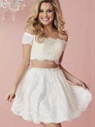 shoulder white lace homecoming dresses two pieces homecoming