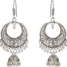 metal earings flipkart buy krishivcreation black metal alloy jhumki