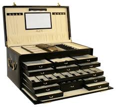 jewelry box necklace organizer images Amazing of jewelry box storage shop houzz morelle co leather jpg