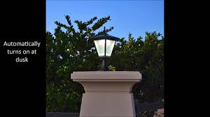 Solar Powered Post Cap Lights by Brick Column Pillar Solar Light By Free Light Youtube