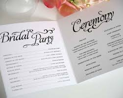 Wedding Booklet Templates Wedding Ceremony Program Template Best Images Collections Hd For