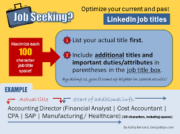 Seeking Titles Wiserutips How To Optimize Your Linkedin Titles