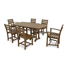 Outdoor Table Plastic Shop Trex Outdoor Furniture Monterey Bay 7 Piece Tree House