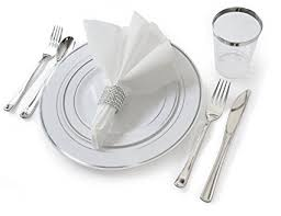 wedding silverware occasions set wedding disposable plastic