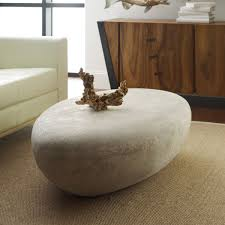 river stone coffee table river stone cocktail table roman stone digs