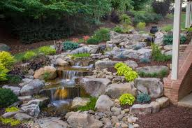 ndh aquascapes fayetteville nc backyard pondless waterfall