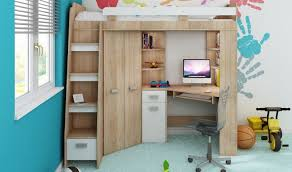 lit bureau armoire combiné lit combiné en hauteur enfant avec bureau et armoire en bois