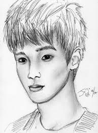 easy pencil sketches gallery exo m chen pencil sketchtakojojo15 on